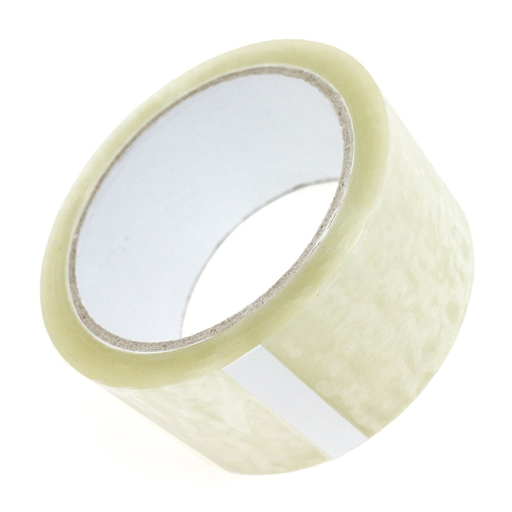 BUDGET Polypropylene Parcel Tape Clear 48mm x 66m