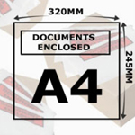 Document Enclosed Wallets A4 Printed