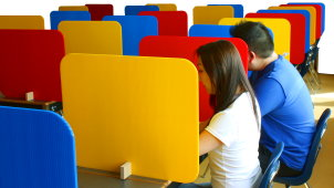 Correx Corrugated Plastic For School Exam Desk Dividers