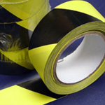 Social Distancing Tape PVC Adhesive Black & Yellow 50mm x 33m