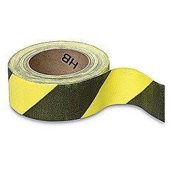 Social Distancing Tape CLOTH Adhesive Hazard Black & Yellow 50mm x 33m